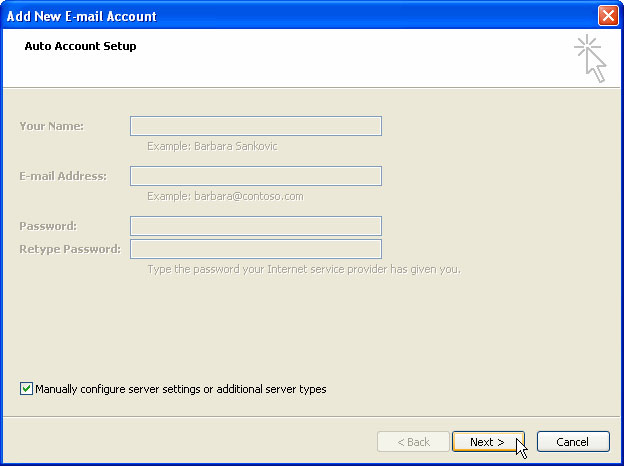 how to create a email account from outlook 2007