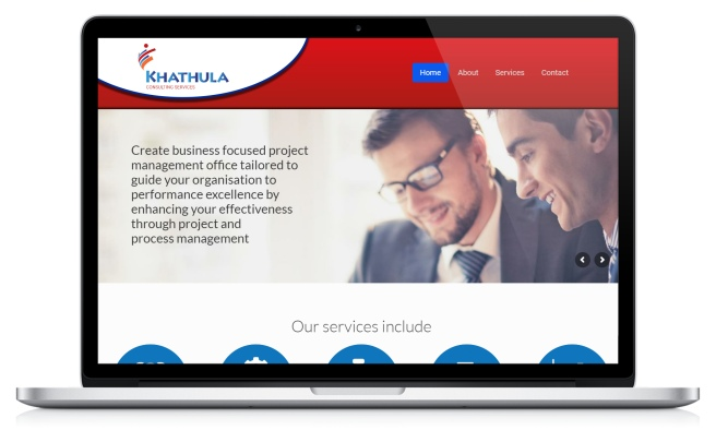 khathula consulting website designed by advertising solutions