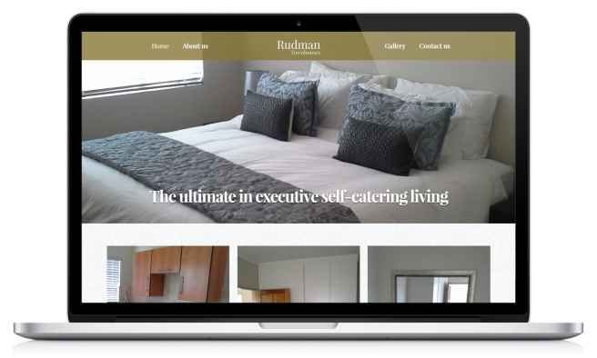 rudman townhouses website designed by advertising solutions