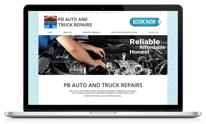 PB Auto and Truck Repairs website