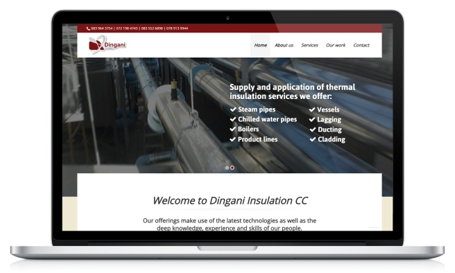Dingani Insulation's website