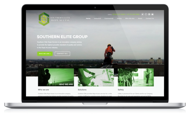 Screenshot of Southern Elite's website