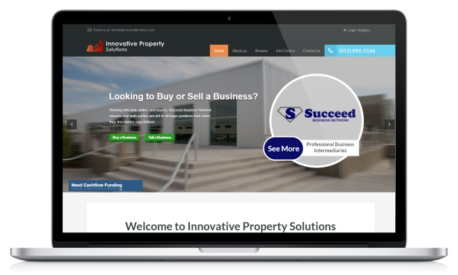 Innovative Property's home page on their website