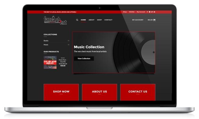 Fanclub Entertainment's website