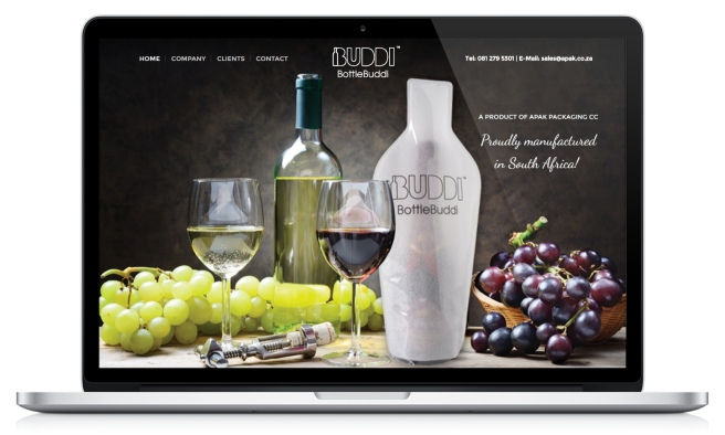 Bottle Buddi's website screenshot of home page
