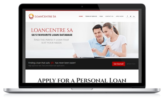 LoanCentre SA's website screenshot