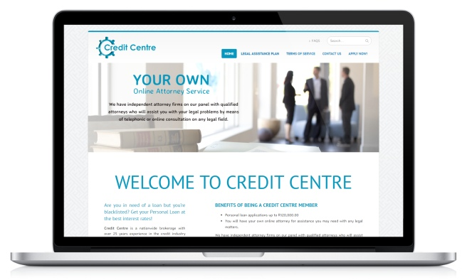 Credit Centre's website screenshot