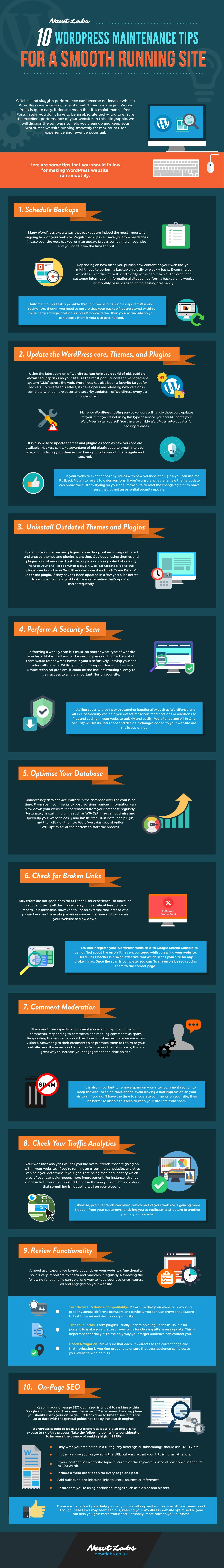 10 WordPress Maintenance Tips for a More Effective Business Website [Infographic]